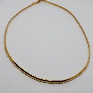 18' Nolan Miller Gold Plated Omega Choker Necklace